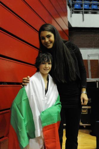 Бобо с Олимпийската шампионка Милица Манджич