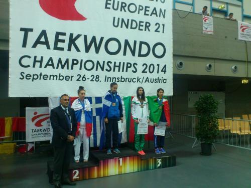 Първи европейски медал за Никол Чорбанова Австрия 2014
