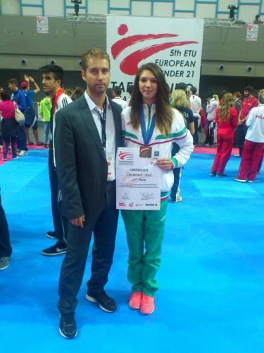 Никол Чорбанова с бронзов медал от Европейското п-во до 21 години