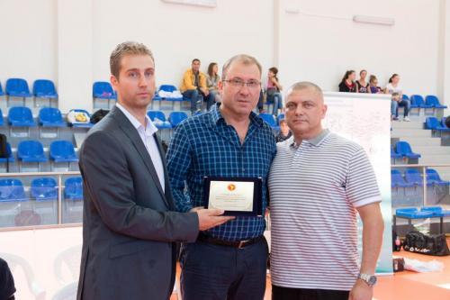 С президента на Българска Федерация по Таекуондо д-р Росен Михайлов и зам. кмета на гр. Петрич